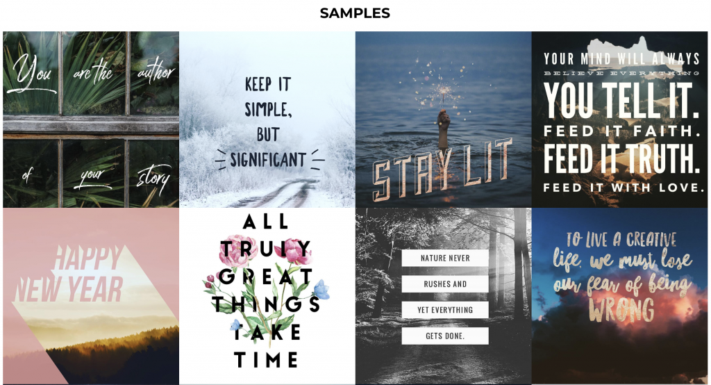 5 Easy To Use Online Photo Editing Tools  - WordSwag Template Samples